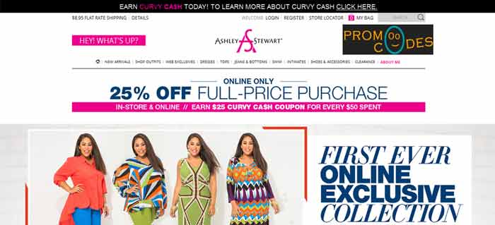 Ashley Stewart Coupons for Plus Size Clothings