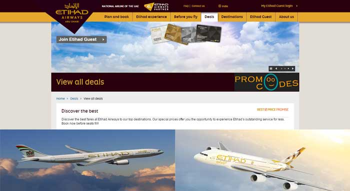 Etihad Coupons to Book Your Airline Service