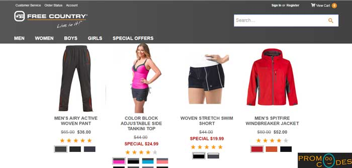 Latest online fashion hub with discounted price using Free Country Coupons