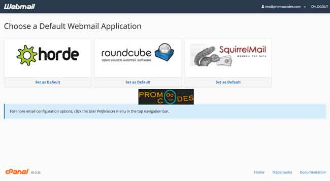 choose you web mail clients or application