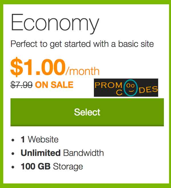 Godaddy 1 Dollar Web Hosting