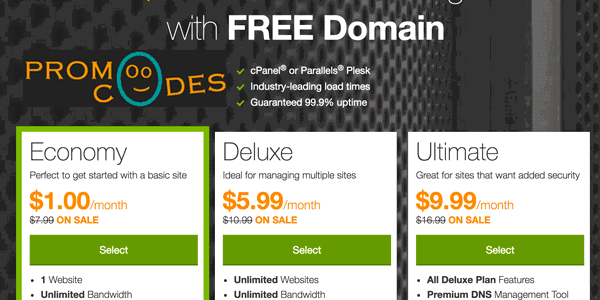 Godaddy One Dollar Web Hosting