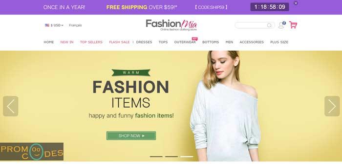FashionMia Coupon Codes
