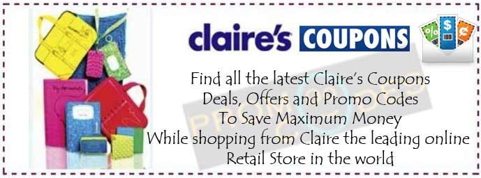 photo about Claire's Printable Coupons identified as Claires Discount codes, Promo Codes, 40% off Claire September 2019