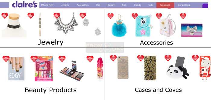 Vast range of Popular products at Claire's