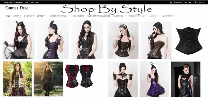 CorsetDeal Shop By Style