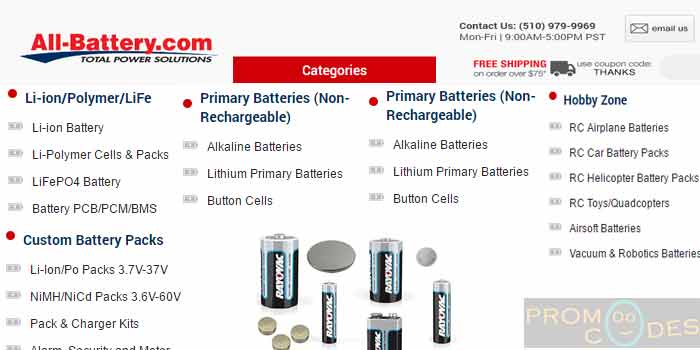 Vast Range of products at All-Battery.com