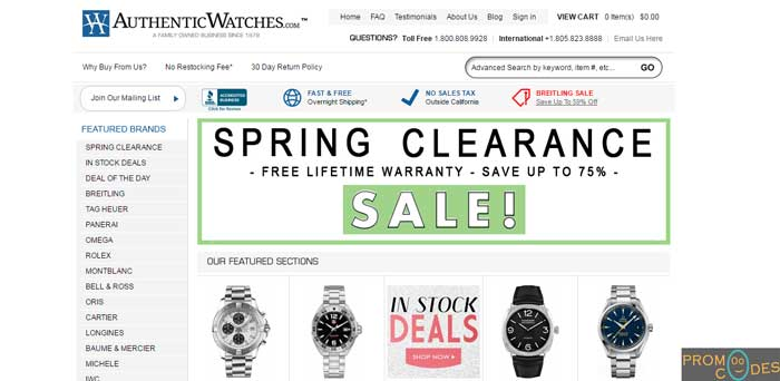 AuthenticWatches Coupons
