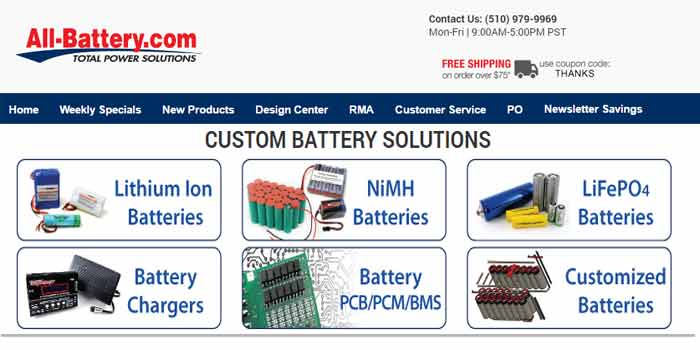 All-Battery Onlien Destination for all types of battery