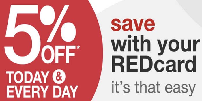 5% off everyday with Target REDcard