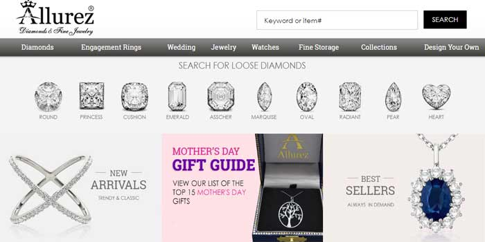 Top 5 online jewelry stores for women best jewellery for Best online store websites