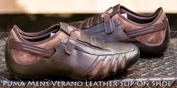 Puma-Mens Verano Leather Slip On Shoes