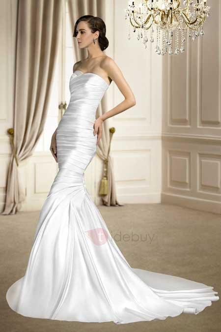 Train Matte Wedding Dress