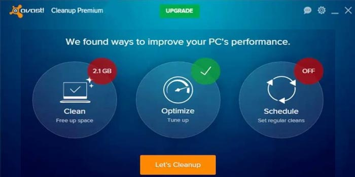 Optimize PC with Avast Cleanup Premium ToolOptimize PC with Avast Cleanup Premium Tool