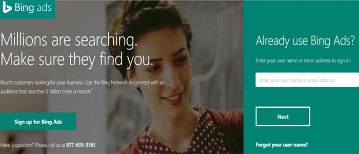 Setup Bing Ads Account