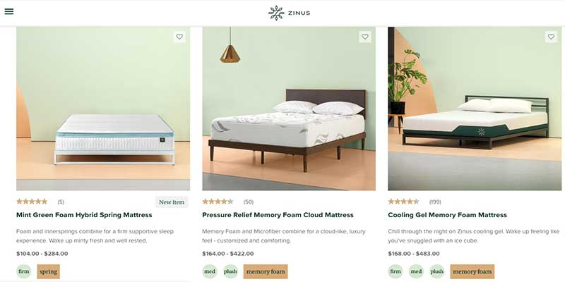 Zinus Mattress Coupons