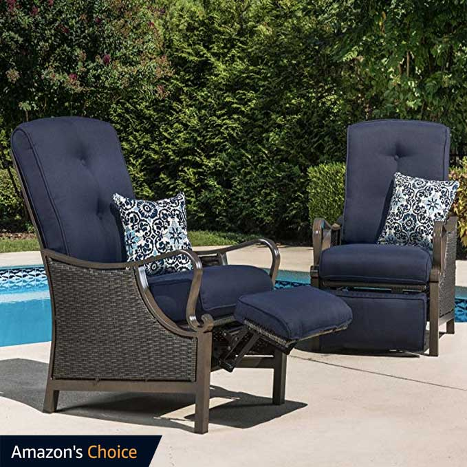 Hanover-Outdoor-Ventura-Outdoor-Luxury-Recliner,-Navy-Blue