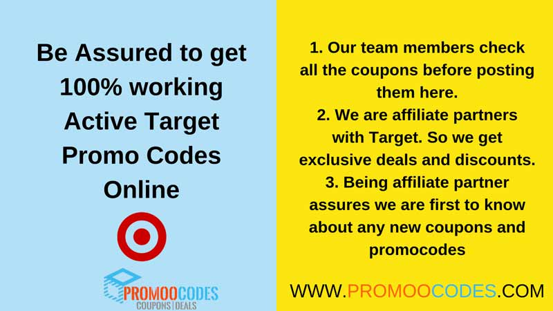 Be assured to get 100 percent working active target promo codes online from us
