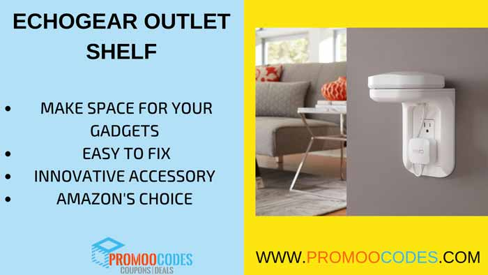 ECHOGEAR OUTLET SHELF INNOVATIVE SPACE SAVING TOOL FOR YOUR GADGETS