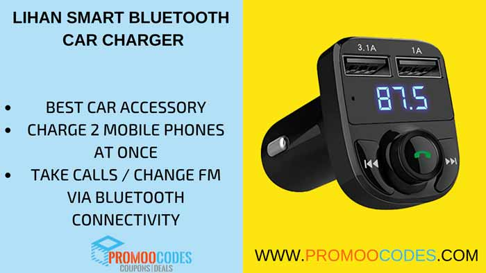 LIHAN SMART BLUETOOTH CAR CHARGER
