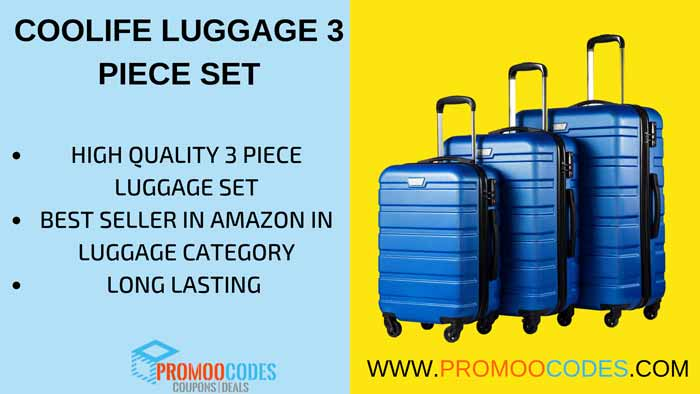 coollife 3 peice luggage set is the best seller in amazon.com luggage category