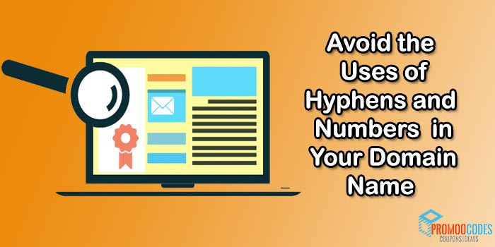 Don't use Hyphens & Numbers