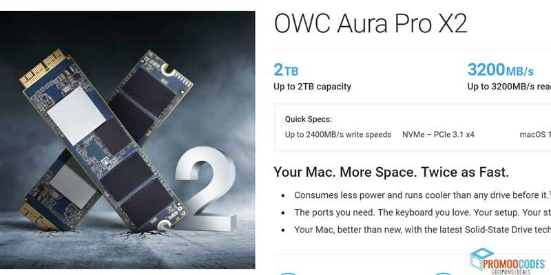 OWC Aura Pro X2 Coupons