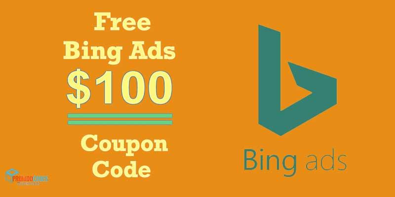Bing Ads $100 Coupon Code